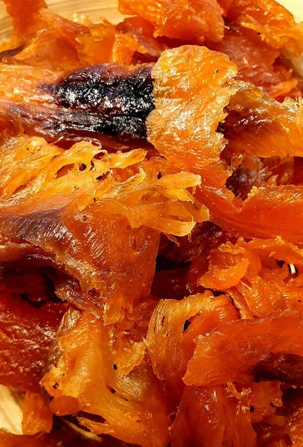 Žāvēta Atlantijas laša filejas gabaliņi ar garšvielām, kg