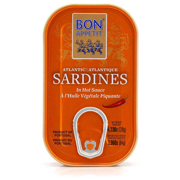 Bon Appetit Sardīnes pikantā saulespuķu eļļā 120 g