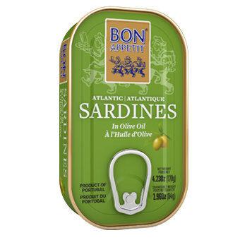 Bon Appetit Sardīnes olīveļļā. 120 g