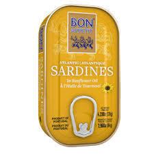 Bon Appetit Sardīnes saulespuķu eļļā. 120 g