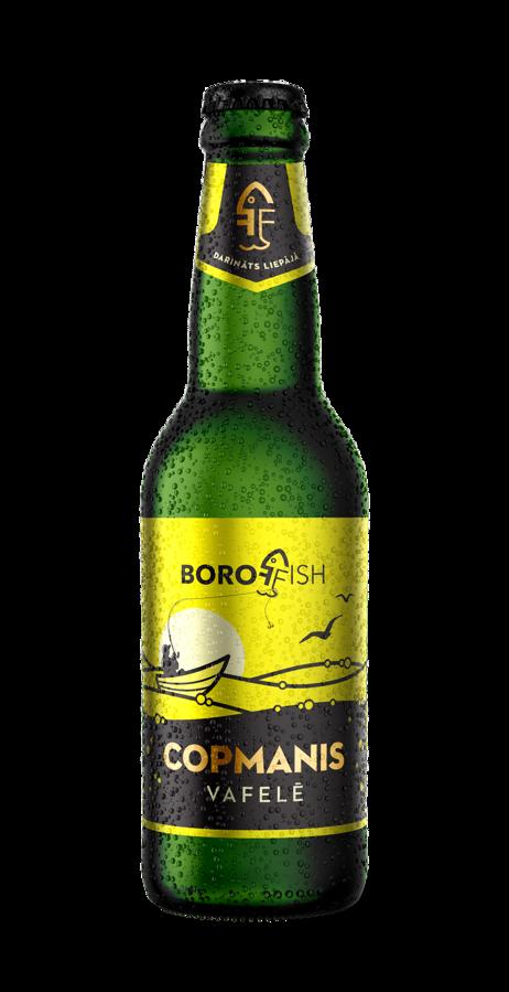 """BOROFFISH """"COPMANIS VAFELĒ"""", kviešu alus 0,33l, 5%"""