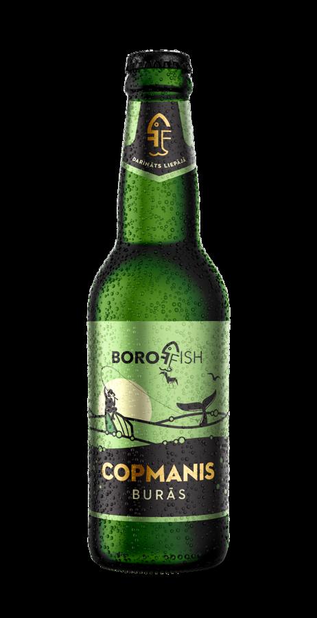 "BOROFFISH ""COPMANIS BURĀS"", lager alus 0,33l, 5%"
