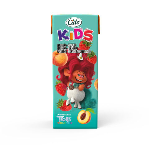 CIDO Kids Trolls with peach-strawberry flavor 0.2l