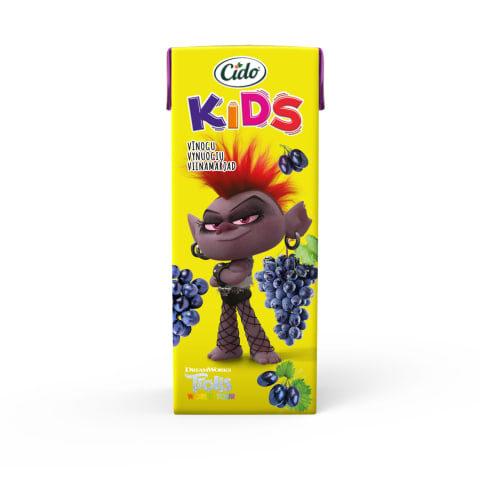 Sula Cido Kids Trolls vīnogu nektārs 0,2l