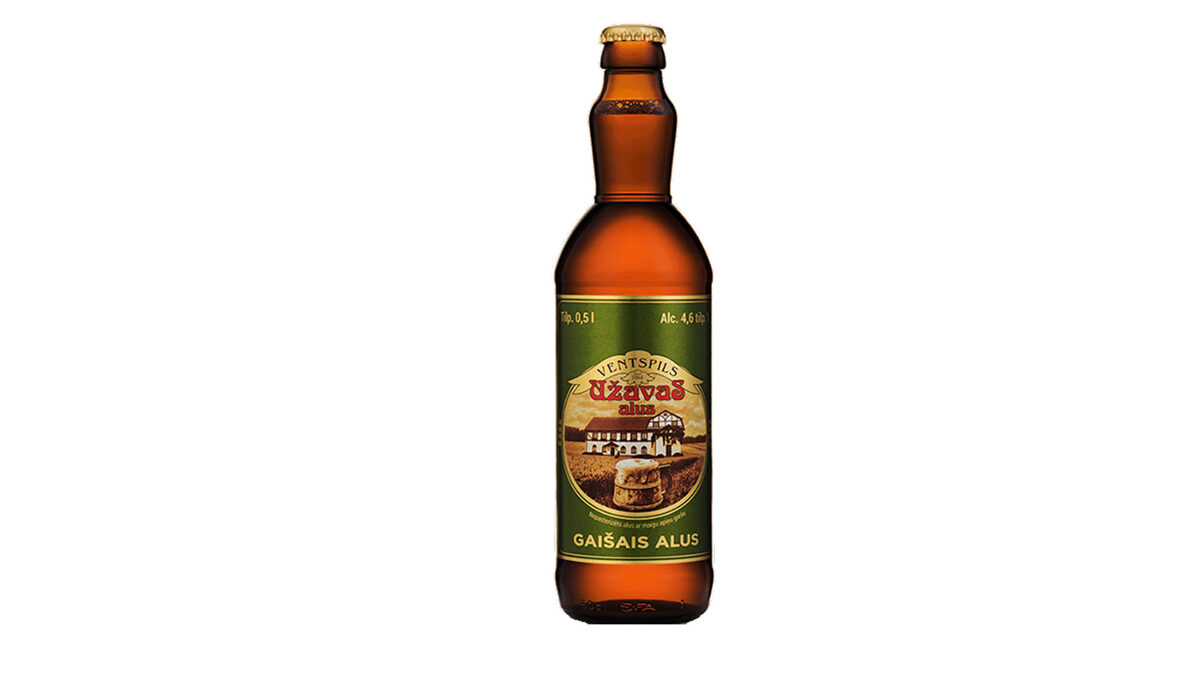 Užavas GAIŠAIS alus, 0,5l stikla pudelē