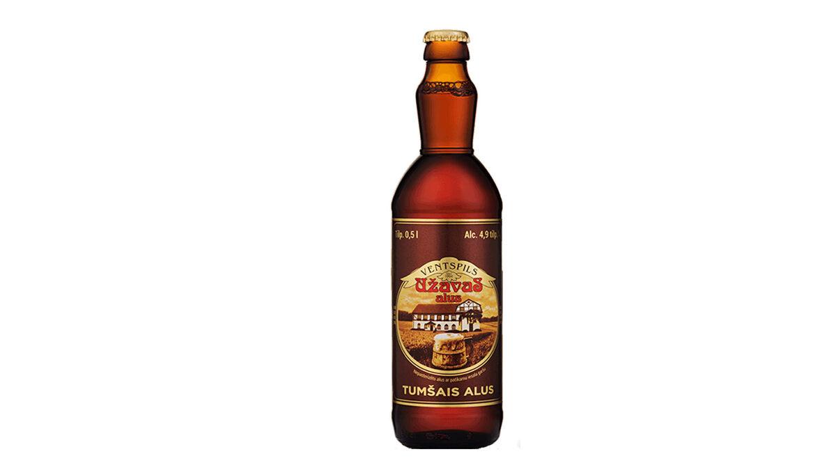 Užavas TUMŠAIS alus, 0,5l stikla pudelē