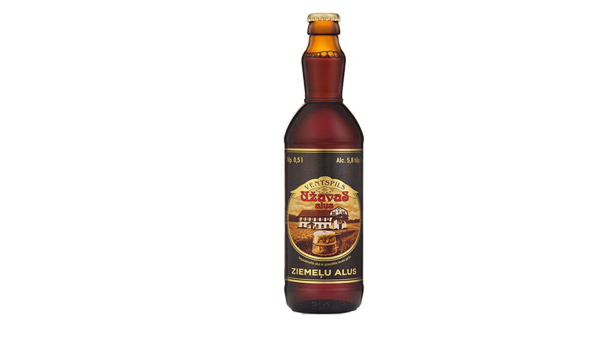 Užavas ZIEMEĻU alus, 5,8%, 0,5l stikla pudelē