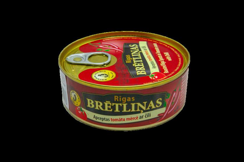 BRĪVAIS VILNIS, Apceptas brētliņas tomātu mērcē ar čili piparu, 240g
