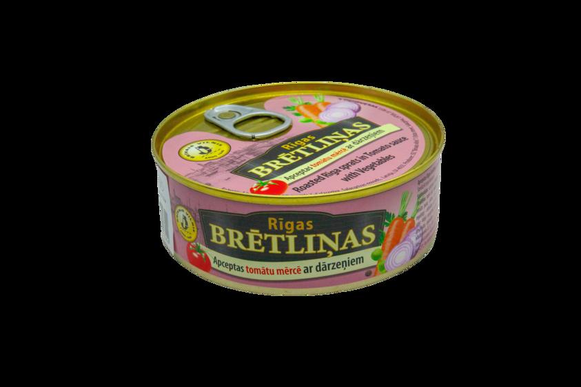 BRĪVAIS VILNIS, Apceptas brētliņas tomātu mērcē ar dārzeņiem, 240g