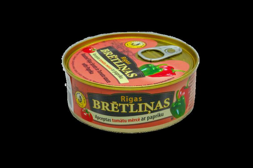 BRĪVAIS VILNIS, Apceptas brētliņas tomātu mērcē ar papriku, 240g