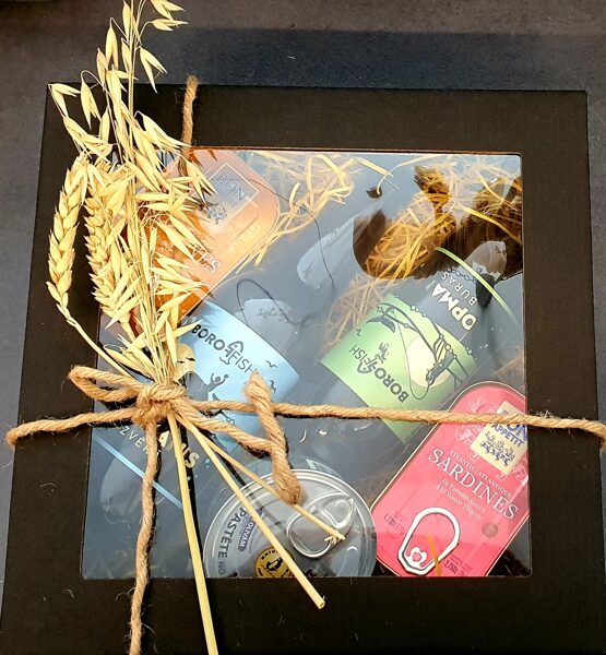 Gift set with Boroffish Copmanis beers and Portuguese sardines