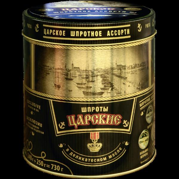 Brīvais vilnis Canned Sprats Assorted Tsarskoye 730g