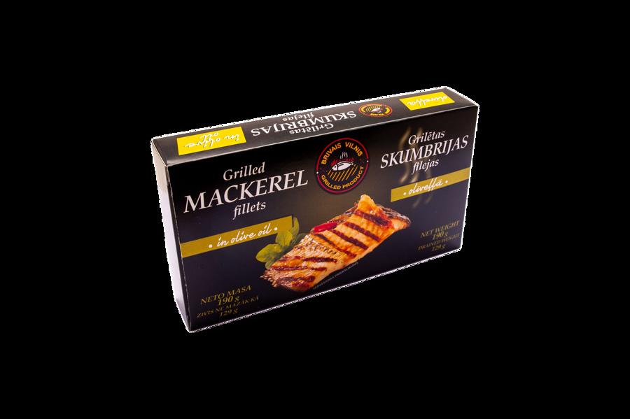 BRĪVAIS VILNIS, Grilled mackerel fillets in olive oil, 190g