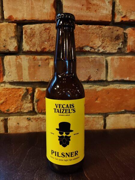 Vecais Taizel's PILSNER alus, 5%, 0,33l stikla pudelē
