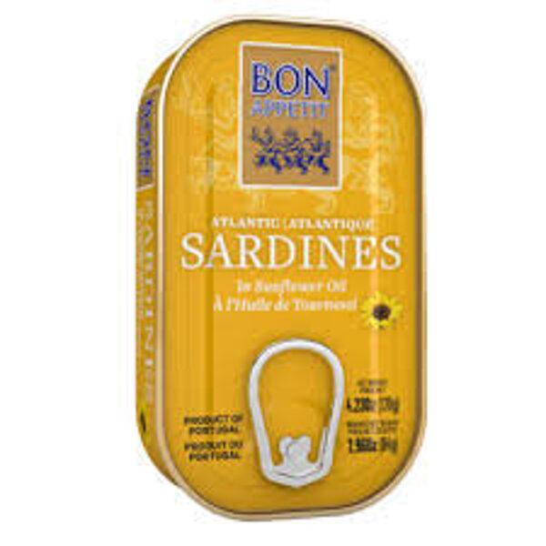 Bon Appetit сардины в подсолнечном масле 120 г