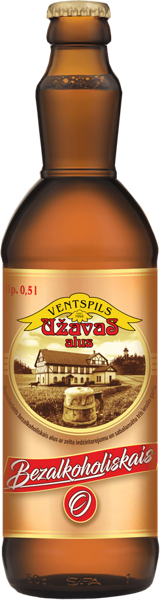 Non-alcoholic Užava beer