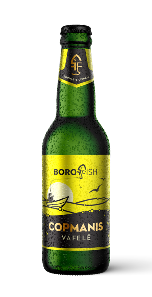 """BOROFFISH """"COPMANIS VAFELĒ"""", пшеничное пиво 0,33l, 5%"""