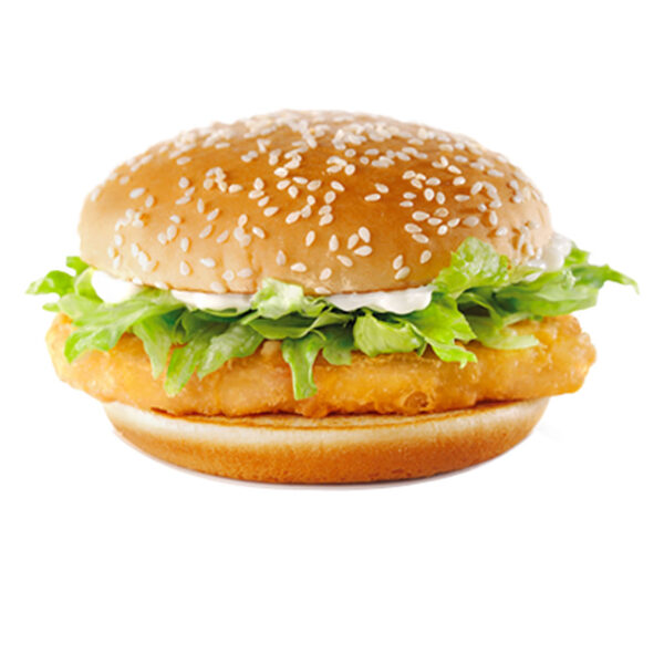 Fish burger with cod
