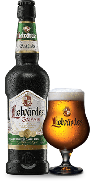 Lielvārdes LIGHT beer, 5,4%, 0,5 l glass bottle