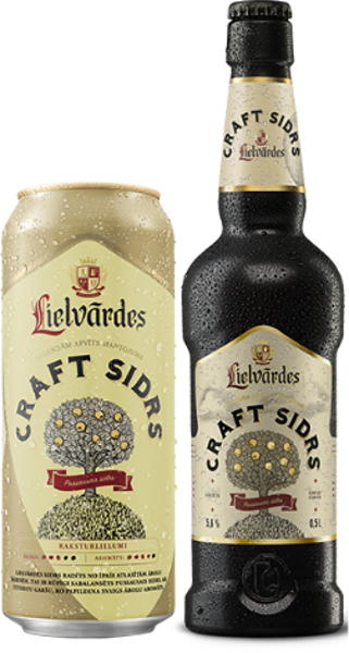 Lielvārdes CRAFT CIDER, 5,6%, 0,5 l glass bottle