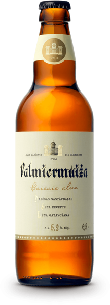 Valmiermuiža LIGHT beer, AMBER LAGER, 5,2% 0,5 l glass bottle