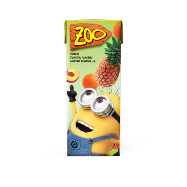 ZOO Minions Multiaugļu sulas dzēriens, 0,2 l
