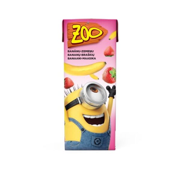 Zoo Minions ar banānu-zemeņu garšu 0,2l